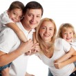 Family with two children — Stock Photo #12359737
