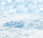 Flocons de neige sur la neige — Photo