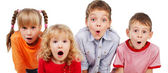 Children surprised — Stock Photo