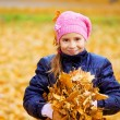 Child at autumn park — Stock Photo
