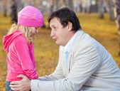Dad daughter regretting — Stock Photo