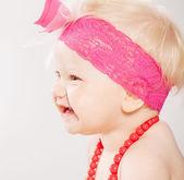 Happy baby profile portrait — Stock Photo