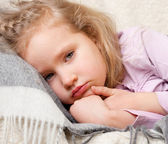 Illness child — Stockfoto