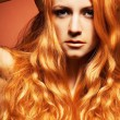 Royalty-Free Stock Photo: Fashion portrait of sensual redhead young woman