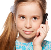 Girl, talking on the phone — Stock Photo