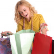 Beautiful woman with bags — Stock Photo #1843525