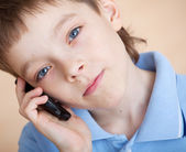 Boy, talking on the phone — Stock Photo