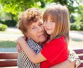 Grandmother with grandchild — Stock Photo