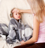 Illness child — Stock Photo