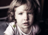 Crying little girl — Photo