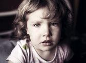 哭泣的小女孩 — 图库照片