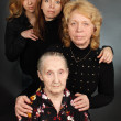 Four generations of women in a family - Stock Photo