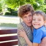 Grandmother with grandchild — Stock Photo #24153361