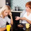 Conflict between mother and daughter - Stock Photo