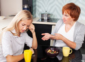 Conflict between mother and daughter — Stock Photo