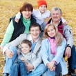 Stock Photo: Big family in autumn park