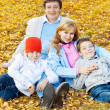 Family in autumn park — Stock Photo #29556033