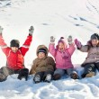 Foto de Stock  : Children in the winter
