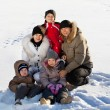 Family in the winter — Stock Photo #31293615