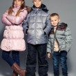 Children in winter clothes — Foto Stock