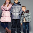 Children in winter clothes — Foto de Stock