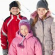 Kinder im winter — Stockfoto