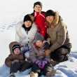 Family in the winter — Stock Photo #35034745