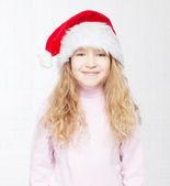 Criança com chapéu de natal — Foto Stock