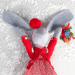 Chrictmas hare — Stock Photo