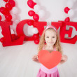 Child with heart — Stock Photo