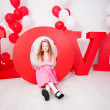 Child in love — Stock Photo