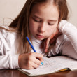Girl doing homework — Stock Photo #46010093