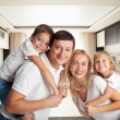 Family with two children — Stock Photo #46317981