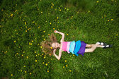 Child at summer — Stock Photo