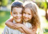 Children outdoors — Stock Photo