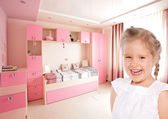 Girl at home — Стоковое фото
