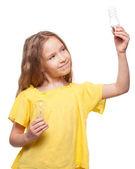 Child with bulbs — Stockfoto