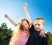 Children at summer — Stock Photo