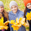 Children at autumn — Stock Photo #50989105