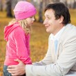 Dad pitying daughter — Stock Photo #50989211