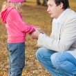 Dad pitying daughter — Stock Photo #50989215