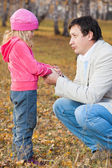 Dad pitying daughter — Stock Photo