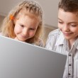 Children with laptop — Stock Photo #9054118