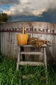 Bath Barrel with broom — Stock Photo