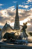Gefion 喷泉。哥本哈根丹麦 — 图库照片