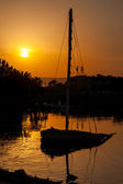Sunset. El Gouna. Egypt — Stockfoto