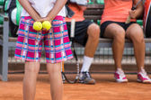 Tennis. Between games — Stock Photo