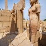 Statues in Karnak Temple. Luxor, Egypt — Stock Photo