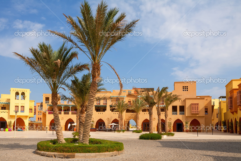 Square in Abu Tig Marina. El Gouna, Red Sea, Egypt  Stock Photo #19820515