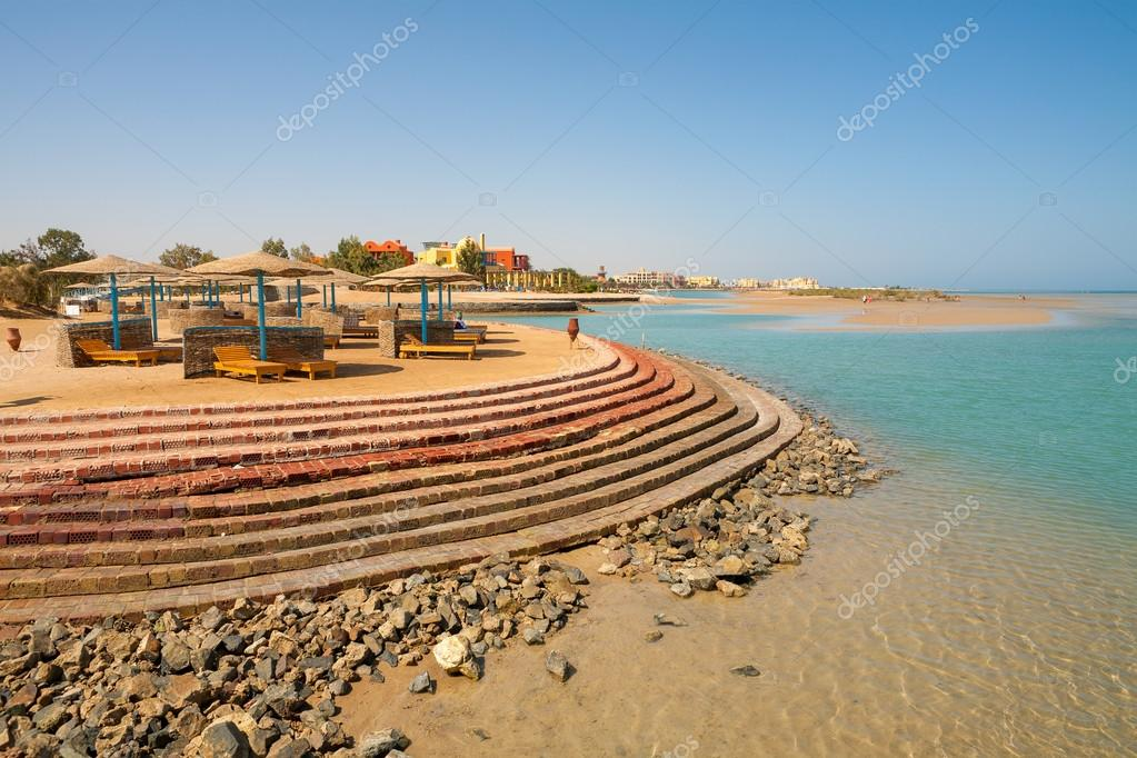 View of the beach in El Gouna. Red Sea, Egypt  Stock Photo #20990131